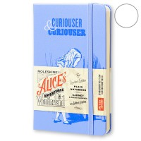 Блокнот Moleskine Alice's Adventures in Wonderland маленький синий LEAL01QP012