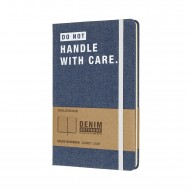 Блокнот Moleskine DENIM – DON`T HANDLE WITH CARE LCDNQP060D