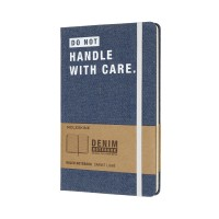 Записник Moleskine DENIM – DON`T HANDLE WITH CARE LCDNQP060D, LCDNQP060D, Moleskine - Купить в интернет-магазине Darilka.com.ua