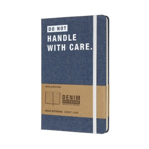 Записник Moleskine DENIM – DON`T HANDLE WITH CARE LCDNQP060D