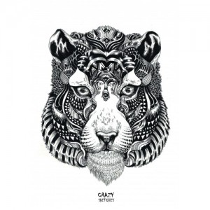 Скетчбук Crazy Sketches - Tiger
