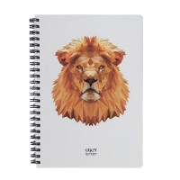 Скетчбук Crazy Sketches Geometrical - Lion на пружине