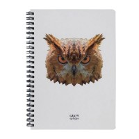 Скетчбук Crazy Sketches Geometrical - Owl на пружине